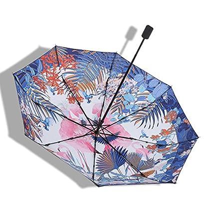 Paraguas plegable automatico Mujer niño Hombre an- Parasol Plegable Protección UV Plástico Negro
