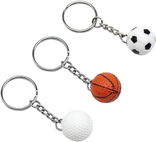 STOBOK Llaveros plásticos Pelota de golf Deporte Fútbol Baloncesto ...