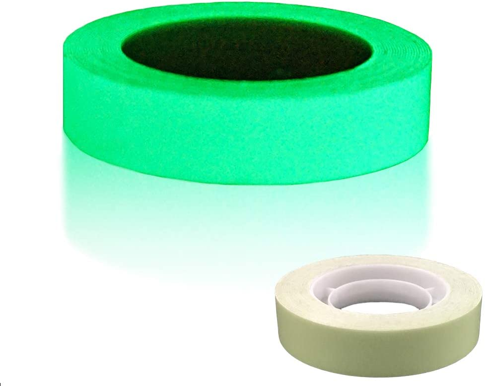 "DUOFIRE Luminous Tape Sticker,9.84' Length x 0.47"" Width (1.2cm3m) High Luminance Glow Removable Waterproof Photoluminescent Glow in The Dark Safety Tape (Size-No.5): Arts, Crafts & Sewing"