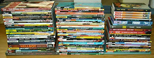 Lot of (100) TPBs & Hardcovers - includes Marvel DC Valiant & more - wholesale ; TPB