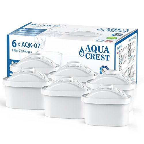 Price comparison product image AQUA CREST Mavea Maxtra Replacement Pitcher Water Filter,  Compatible with Brita Mavea Maxtra 105731,  1001122 (Package May Vary) (Pack of 6)