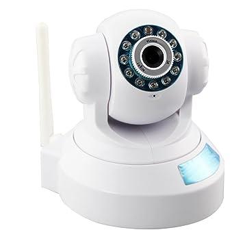 TOOGOO(R)IP-camara de seguridad Inicio WIFI Pan Tilt Vision Nocturna Internet-Camara de seguridad Microfono Inalambrico-Soporte Telefono movil Control ...