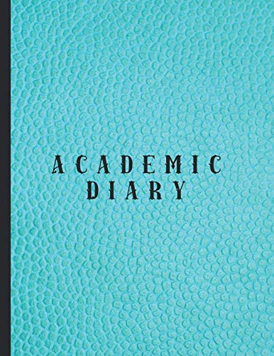 Academic diary: Large page per day academic organizer planner for all your educational organisation - Turquoise leather effect cover - Croc Desktop