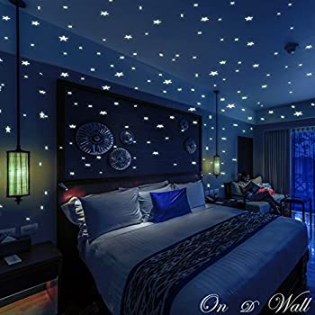 On D Wall 332 Realistic Glow In The Dark Stars U0026 Dots, 3D Wall Stickers Part 57