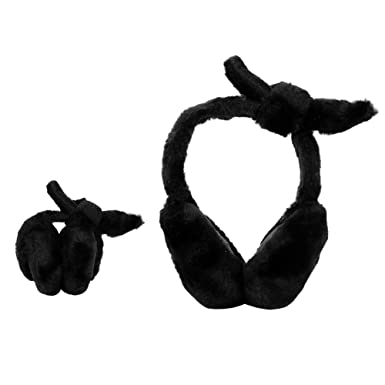Earphone Plug Line Hand-drawing Winter Earmuffs Ear Warmers Faux Fur Foldable Plush Outdoor Gift