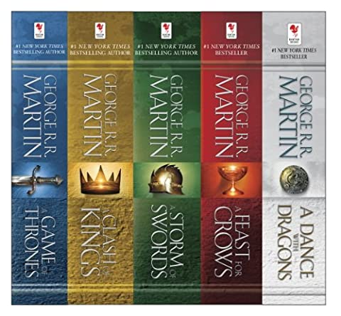 George R. R. Martin's A Game of Thrones 5-Book Boxed Set (Song of Ice and Fire Series): A Game of Thrones, A Clash of Kings, A Storm of Swords, A Feast for Crows, and A Dance with (Action & Adventure DVDs & Videos)