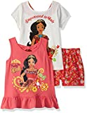 Disney Girls' Little Elena of Avalor 3 Piece Short Set, OFFWH, 5