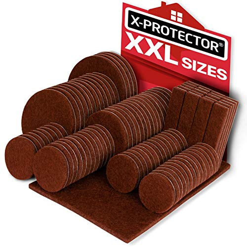 X-PROTECTOR Premium XXL Sizes Furniture Pads! Big Sizes of Heavy Duty Felt Pads Furniture Feet - Your Best Wood Floor Protectors. Protect Your Hardwood & Laminate Flooring from Heavy Furniture! (Best Floor Protectors For Hardwood Flooring)