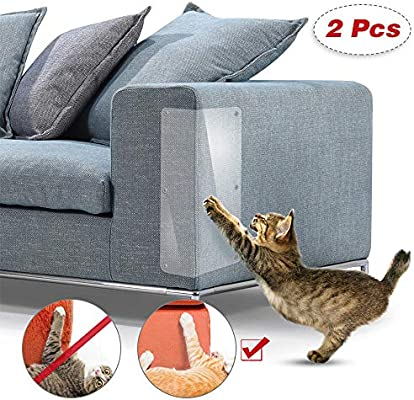 Robluee - Juego de 2 alfombras para rascar Gatos y Gatos, protección de sofá, Postes de Muebles, antiarañazos
