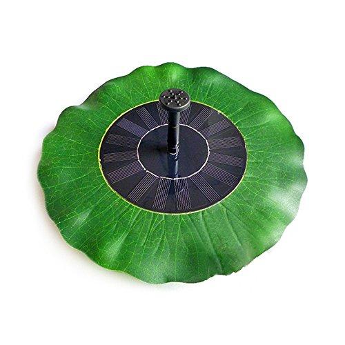 LIEYANG Green Lotus Leaf Shape Solar Powered Garden Pool Water Floating Pump Fountain by Lieyang