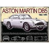 Aston Martin DB5 dentro plata Años 60 icono coche y lámina de la estrella. Visibles dentro James Bond Skyfall y Goldfinger…