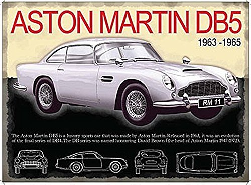 Aston Martin DB5 Small Steel Sign 200mm x 150mm (og) DS