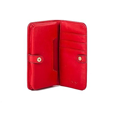 Valentino - Cartera para hombre rojo Red L 15cm H 8cm W 2,5cm