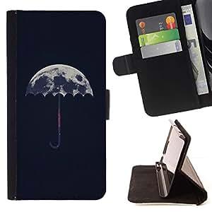 Momo Phone Case / Flip Funda de Cuero Case Cover - Significado artístico Paraguas Lluvia - LG Nexus 5 D820 D821