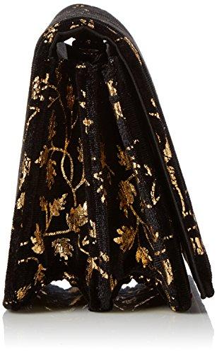 Miss Selfridge Cross - Borse a tracolla Donna, Black, 7x10x16.3 cm (W x H L)