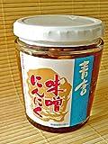 秘伝の青唐辛子味噌とコリコリとしたにんにくが絶品 青唐味噌にんにく 5個セット