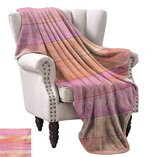 Super Soft Lightweight Blanket,Vertical Stripes with Pastel Colors Geometric Banners Abstract Design 70