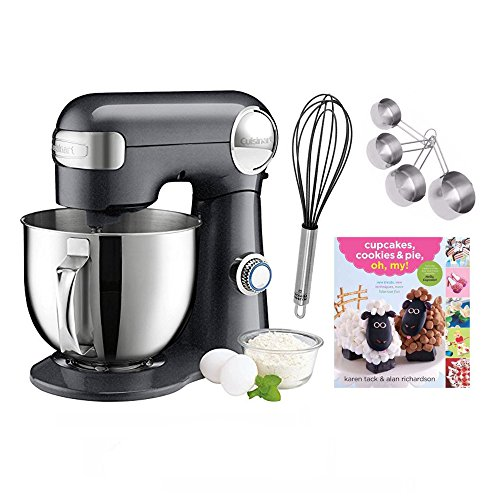 Cuisinart SM-50GT Black Steel Stand Mixer with Accessory Bundle