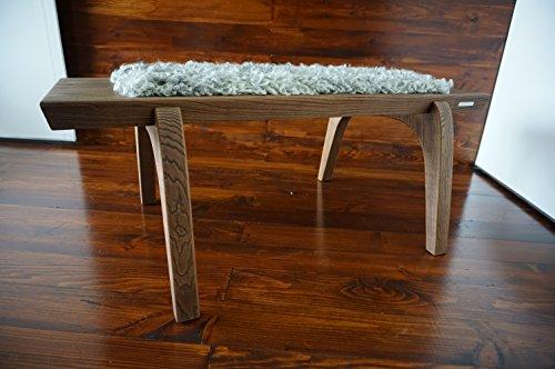 minimalist oak wood bench upholstered