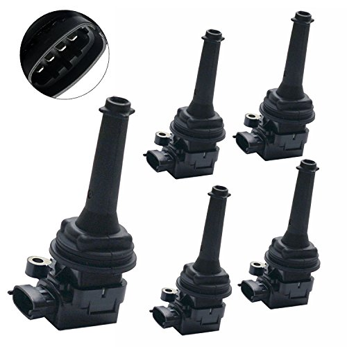 (Ignition Coil Coils Pack of 5 for Volvo C70 S60 S70 S80 V70 XC70 XC90 UF341)