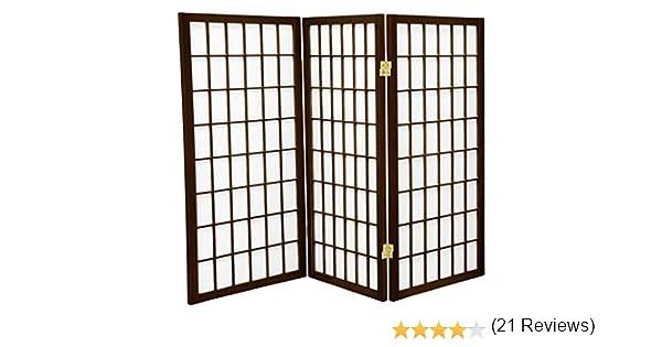 Oriental Muebles Único ventana tratamiento estor, 3-Feet ventana Panel japonés Shoji pantalla de privacidad habitación separador, Panel 3 nogal: Amazon.es: Hogar