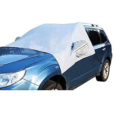 Car Windshield Snow Cover Sun Shade Protector-Winter Snow,Ice,Rain,Dust Frost Guard and Windproof