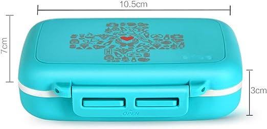 WSKKK Caja de Pastillas con Caja de Almacenamiento de medicamentos ...