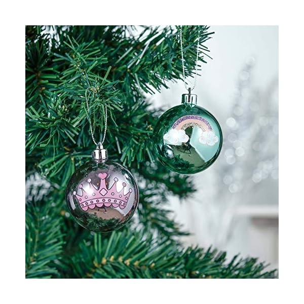 Valery Madelyn Palle di Natale 9 Pezzi 6 cm Palline di Natale, Decorazioni Natalizie Infrangibili Ricoperte di Zucchero Rosa e Oro per la Decorazione Dell'Albero di Natale 4 spesavip