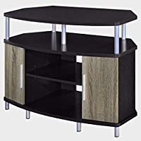 3-Tier Corner Entertainment Center with 2 Cabinets Heavy-Duty Wooden-Metal Espresso TV Stand Modern Compact 55 TV Contemporary Entertainment Center Console Stand eBook by Easy&FunDeals