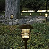 Smartyard 10135 8-PK Solar Large Pathway Lights, Oil-Rubbed Bronze