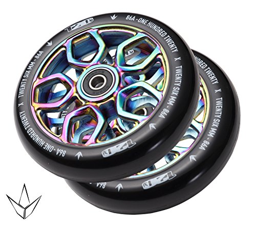 Envy Scooters Lambo Wheels 120mm (Pair) (Oil Slick)