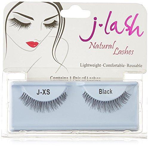 9cc95e877f9 J-lash 3 Pair Style J-XS False Eyelashes, Black, 3 Count