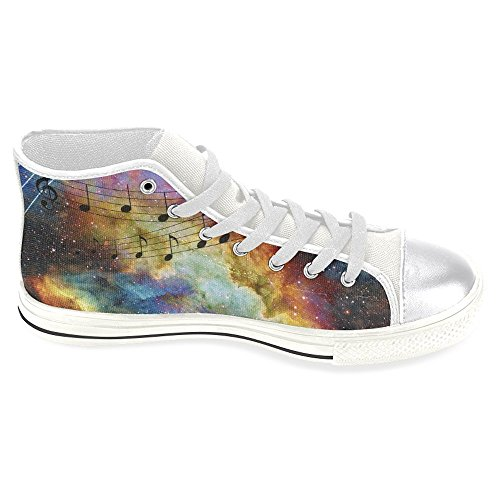 InterestPrint Trainers Note Top Casual Canvas Music Classic High Fashion Womens Sneakers Shoes rp8qUr