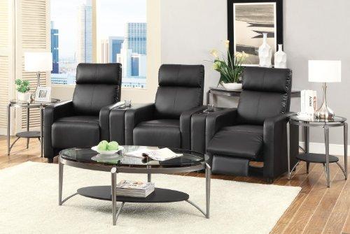 Coaster Furniture 600181 Contemporary Recliner, Black