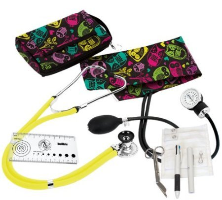 Prestige Medical A5 Aneroid Sphygmomanometer/Spr... Nurse Kit, Owls Black