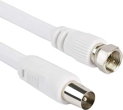 Dintel - Cable Antena 5 Metros IEC Macho-F Blanco Blister