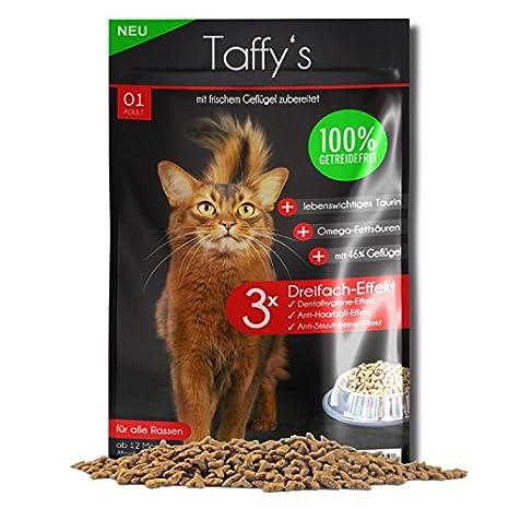 TaffyŽs - Comida para gatos - Pienso libre de cereales - Ave: Amazon.es: Productos para mascotas