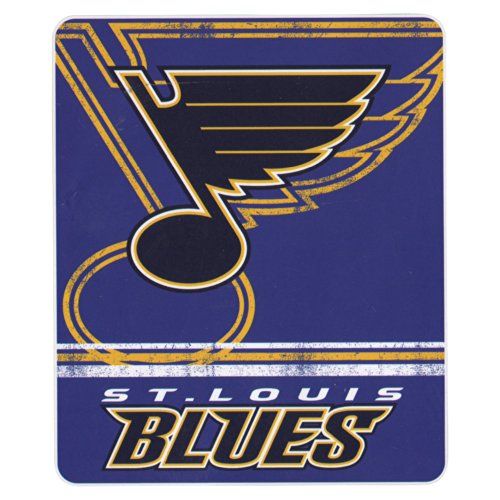 NHL Vintage Fade Team Logo Fleece Throw Blanket (St. Louis Blues) (St Louis Blanket)