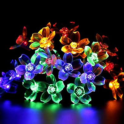 All Star 50 LED Solar-Powered Flower Bulbs Outdoor String Lights