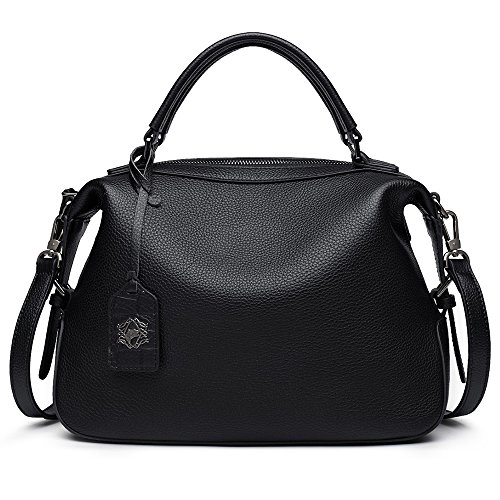ZOOLER Genuine Leather Handbags for Women Top Handle Bag Crossbody Bags Large Purse by ZOOLER