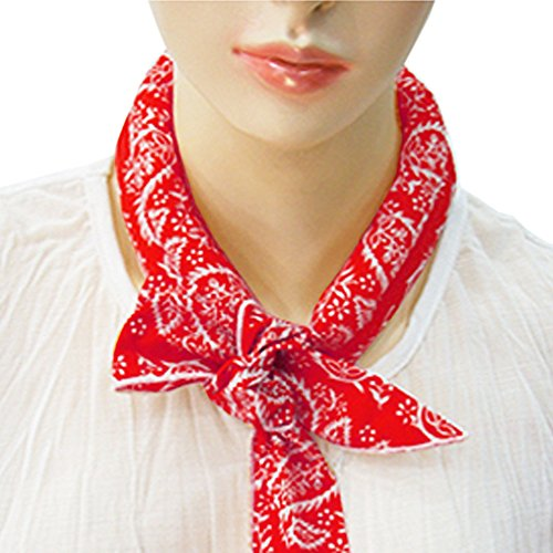 The Elixir Cooling ICE Scarf Neck Wrap Cooling Bandanna Scarf , Red Color