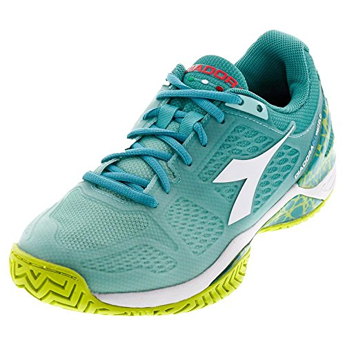 DIADORA 171503-C6505S17 Women`s S Blueshield AG Tennis Shoes Aruba Blue and Ceramic
