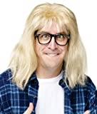 Fun World Mens SNL Garth Alpar Halloween Party Costume Wig Yellow O/S