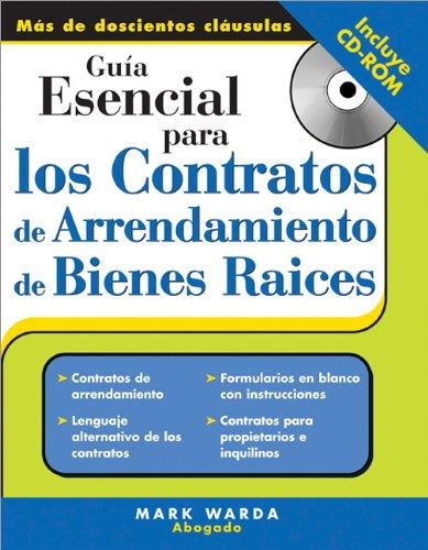 Guia Esencial Para los Contratos de Arrendamiento de Bienes Raices: Amazon.es: Warda, Mark, Quiroz-Pecirno, Marta C: Libros