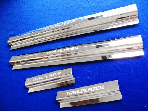 4 Door Sills Scuff Step Plate Door for Chevrolet Trailblazer 2012 2013 ()