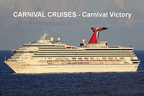 - CRUISE SHIP FRIDGE MAGNET - CARNIVAL CRUISES - CARNIVAL VICTORY 3½ x 2½ inches Jumbo