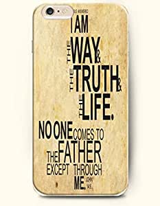 iPhone Case,OOFIT iPhone 6 (4.7) Hard Case **NEW** Case with the Design of Jesus answered I am the way & the truth &the life. No one comes to the future except through me John 14:6 - Case for Apple iPhone iPhone 6 (4.7) (2014) Verizon, AT&T Sp