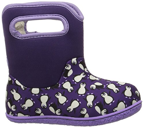 Bogs - botas Wellington con asa para tirar y cierre de velcro – Rosa/Multi – varias tallas disponibles Classic Penguins Grape Multi