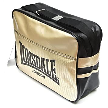 a0f0d87fc5e8 Lonsdale Original Holdall - Shoulderbag Urban 111107 1530 - Colour  Black  And Gold Pvc  Amazon.co.uk  Sports   Outdoors
