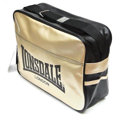 Lonsdale Original Tasche Sporttasche, Shoulderbag URBAN 111107-1530 Farbe: Schwarz Gold PVC